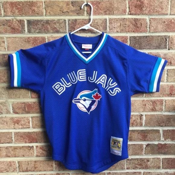 low priced c0f80 8071d Toronto Blue Jays Mitchell & ness Baseball Jersey